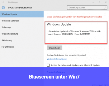 Bluescreen unter Win7