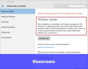 Bluescreens :(