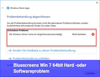 Bluescreens Win 7 64bit, Hard -oder Softwareproblem?