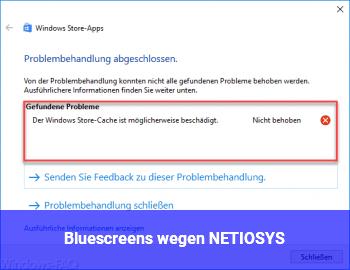 Bluescreens wegen NETIO.SYS