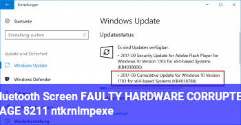 Bluetooth Screen FAULTY_HARDWARE_CORRUPTED_PAGE – ntkrnlmp.exe