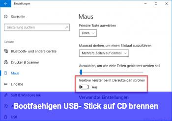 Bootfähigen USB- Stick auf CD brennen