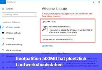 Bootpatition (500MB) hat plötzlich Laufwerksbuchstaben