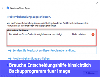 Brauche Entscheidungshilfe hinsichtlich Backupprogramm für Image