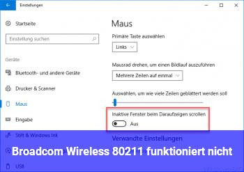 Broadcom Wireless 802.11 funktioniert nicht