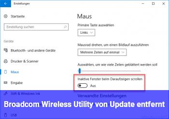Broadcom Wireless Utility von Update entfernt