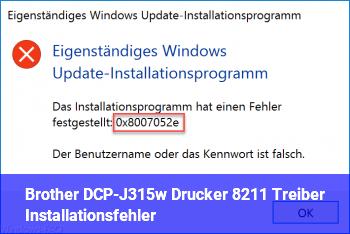 Brother DCP-J315w Drucker – Treiber Installationsfehler