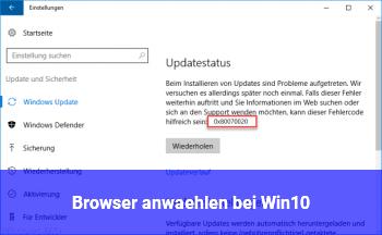 Browser anwählen bei Win10