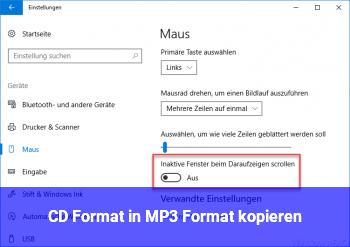 CD Format in MP3 Format kopieren