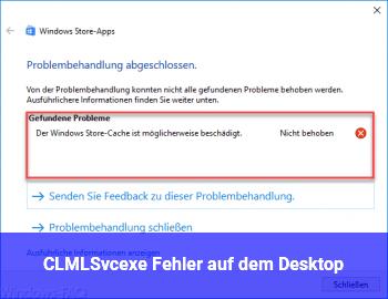 CLMLSvc.exe Fehler auf dem Desktop