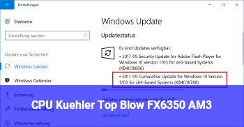 CPU Kühler Top Blow FX6350 AM3+