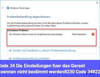 """Code 34 """"Die Einstellungen für das Gerät können nicht bestimmt werden… (Code 34)"""""""