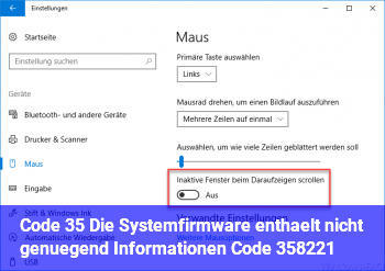 """Code 35 """"Die Systemfirmware enthält nicht genügend Informationen… (Code 35)"""""""