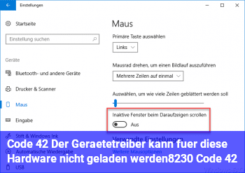 """Code 42 """"Der Gerätetreiber kann für diese Hardware nicht geladen werden… (Code 42)"""""""