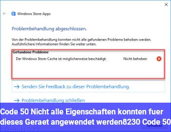 """Code 50 """"Nicht alle Eigenschaften konnten für dieses Gerät angewendet werden… (Code 50)"""""""