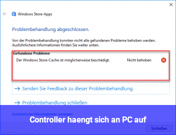 Controller hängt sich an PC auf