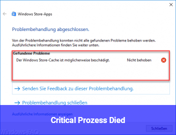 """Critical Prozess Died"""
