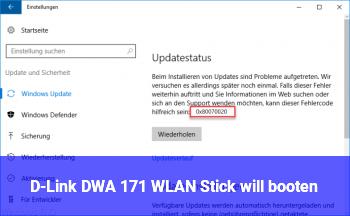 D-Link DWA 171 WLAN Stick will booten