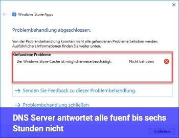 DNS Server antwortet alle fünf bis sechs Stunden nicht.