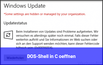 DOS-Shell in C:\ öffnen