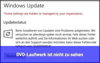 DVD-Laufwerk ist nicht zu sehen