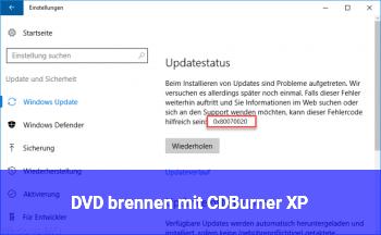 DVD brennen mit CDBurner XP
