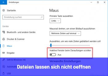 Dateien lassen sich nicht öffnen!
