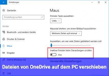 Dateien von OneDrive auf dem PC verschieben?