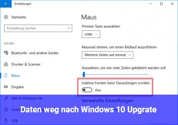 Daten weg nach Windows 10 Upgrate