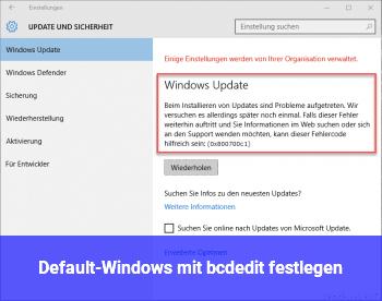 Default-Windows mit bcdedit festlegen