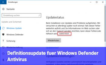 Definitionsupdate für Windows Defender Antivirus