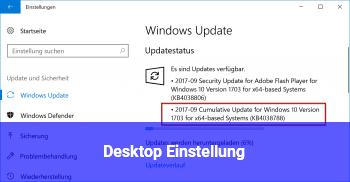 Desktop Einstellung