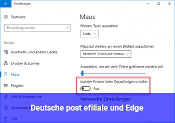 Deutsche post efiliale und Edge