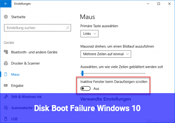 Disk Boot Failure Windows 10