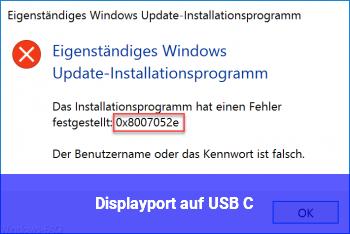 Displayport auf USB C