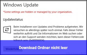Download Ordner nicht leer