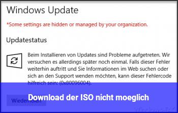 Download der ISO nicht möglich