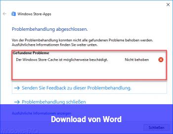 Download von Word.
