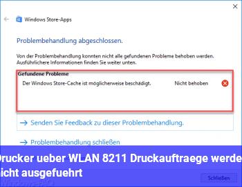 Drucker über WLAN – Druckaufträge werden nicht ausgeführt