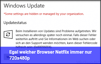 Egal welcher Browser, Netflix immer nur 720x480p