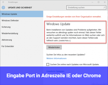 Eingabe Port in Adreszeile IE oder Chrome