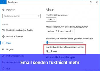 Email senden fukt.nicht mehr