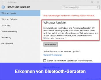 Erkennen von Bluetooth-Geräten