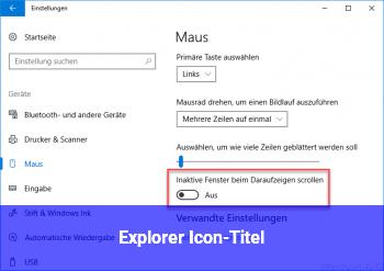 Explorer Icon-Titel