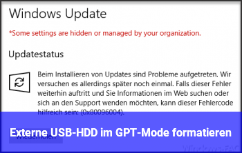 Externe USB-HDD im GPT-Mode formatieren?
