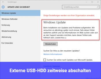Externe USB-HDD zeitweise abschalten