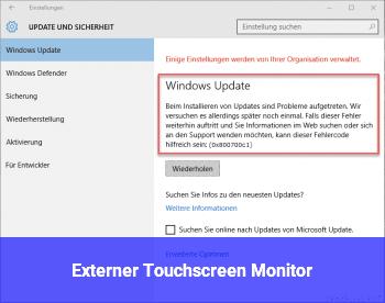 Externer Touchscreen Monitor