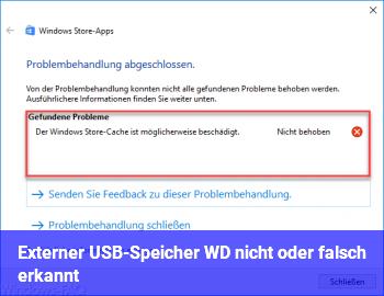 Externer USB-Speicher (WD) nicht oder falsch erkannt