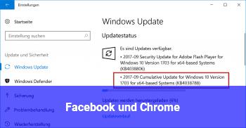 Facebook und Chrome