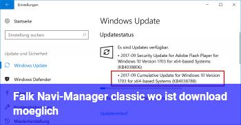 Falk Navi-Manager classic: wo ist download möglich?